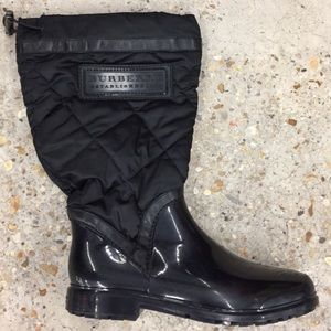 Gently worn Burberry rain/snow boots